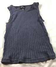 One Step Up gray sleeveless blouse, size Medium