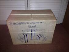 VINTAGE SUNNY BUNCH 3 PC. LUGGAGE SET (SEARS)   <<NEW IN BOX<<(NEVER OPENED)<<