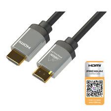 Samson 1 m Premium certifié 4K Câble HDMI HDCP 2.2 HDR 18 Gbps Ethernet 6 G 3D