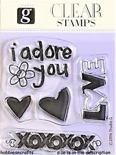 Dovecraft Studio G Clair s'accrocher timbres-Coeurs Love Bisous-Je vous adorer