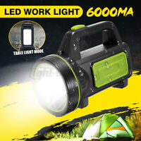 1000M 6000MA Rechargeable LED Spotlight Power Torch Work Light Candle Hand Lamp
