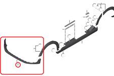 Genuine Mini BANDA NERA PARAURTI ANTERIORE SPOILER F55/F56/F57 PN: 51117301622 UK NUOVO