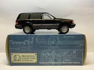 Brookfield Collectors Guild  - 1994 Jeep Grand Cherokee Black - Diecast - 1/24