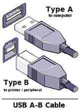 NEW 6 FT USB 2.0 Cable A Male to B Male M/M AB with filter Black generic