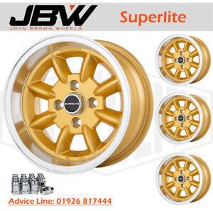 7x 13 Superlite Deep Dish Wheels 4 x 100 PCD Set of 4 Gold