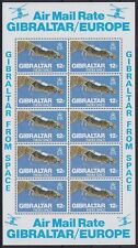 Gibraltar Mi Nr. 371 ** Kleinbogen KB, Air Mail from Space, postfrisch, MNH