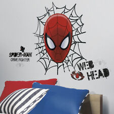 Children's Spider-Man Web Head Wall Sticker Boy's Spider-Man Web Head Wall Decal