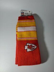 NFL Kansas City Chiefs Crew  Cut Socks Large 10-13 New