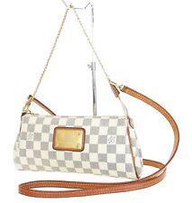Authentic LOUIS VUITTON Eva Damier Azur Chain Clutch Shoulder Handbag #35517