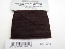 Scanfil Thread for Darning & Mending - 55 Wool 45 Nylon 15 Metres Medium Grey