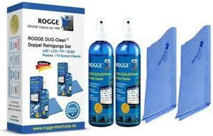 "ROGGE DUO-Clean Original ""DoppelSet""  2x 250ml + 2 Microfasertücher 38x40cm blau"