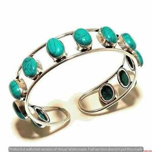 Free Shipping Bracelets 925 Silver Plated Turquoise Cuff Bangles Jewelry