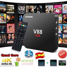8GB SCISHION V88 Smart TV Box 4K H.265 Android5.1 Rockchip 3229 QuadCore Mini PC