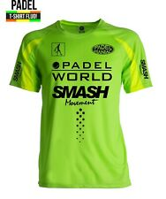 Maglia Verde/giallo FLUO PADEL gara Dry Fit T-shirt Paddle World Champion Player