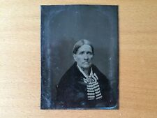 VINTAGE WOMAN - GRANDMOTHER? Tintype of an Older Woman With Large Scarf