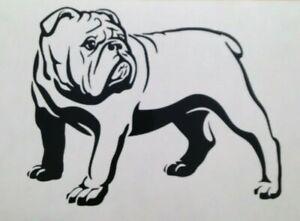 1x English Bulldog Dog Love Pet Animal Vinyl Sticker Bumper Decal Graphic 7x5in