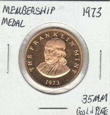 LAM(Y) Membership Medal - The Franklin Mint - 1973 - 35 MM Gold Plate