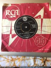 """ELVIS PRESLEY Are You Lonesome Tonight 1960 UK 7"""" VG"""