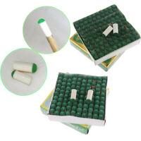 100Pcs Replacements Slip-On Pool Billiard Cue Tips Head Caps Snooker Mouth