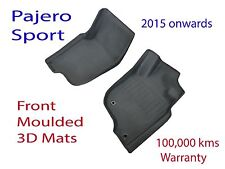 Mitsubishi Pajero Sport 2015 on Front Rubber Moulded 3D Floor Mats