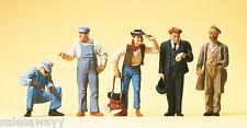 Preiser 65342 US Rail Construction Workers, Schaffner, O Gauge