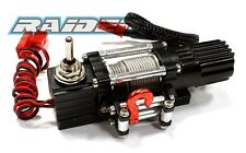 Aluminum Alloy Winch with switch for 1/10 Crawler Truck SCX10 WRAITH RC4WD BLACK