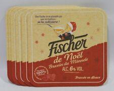 FISCHER DE NOEL BIERE ALSACE 6 Sous-bocks sous-verre carton NEUF