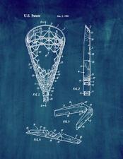 Lacrosse Stick Head Patent Print Midnight