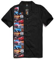 Men's, Rockabilly shirts, Hot Rod, Rock n roll, Tattoo, Route 66, car shirt.