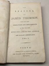 18th Century Book The Seasons by James Thomson 1791. Poetry Poems Engravings