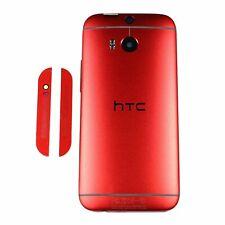 OEM HTC One M8 Battery Cover Back Door Case Housing + Speaker Grills Red