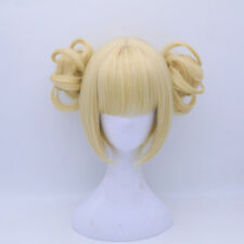 Women Anime For My Hero Academia Himiko Toga Light Golden Cosplay Wig+Cap