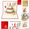 3D Pop Up Paper Greeting Card Happy Birthday Cake Card Gifts Carving Kids New