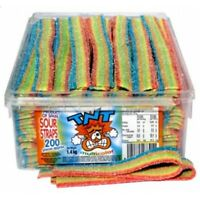 TNT Multicolour Sour Straps 1.4kg Box 200 Pieces Candy Buffet Lollies Favors
