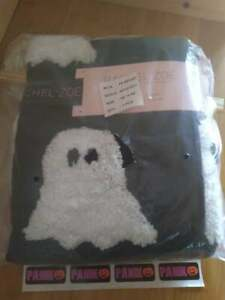 "Rachel Zoe Halloween Black & White Ghost Tassle Throw Blanket 50"" x 60"""