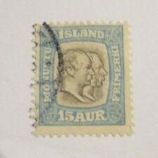 Iceland Scott #O35 Θ fine used official, mute cancel  + 102 card, superfleas