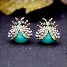 New beauty rare rhinestone pearl Beetle Drop/Dangle earrings Fashion jewelry BJ