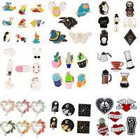 KQ_ BL_ PW_ 1Set Enamel Brooch Pins Shirt Collar Lapel Pin Necktie Clip Jewelry