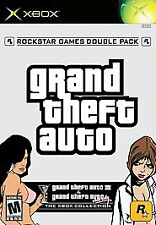 Grand Theft Auto Double Pack Microsoft Xbox - Complete + R* Sticker