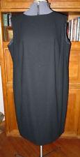ELIZABETH STUNNING BASIC LITTLE BLACK SHEATH DRESS , SZ 18 PETITE, BARELY WORN!