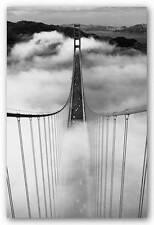 TRAVEL POSTER Misty Morning Golden Gate Bridge