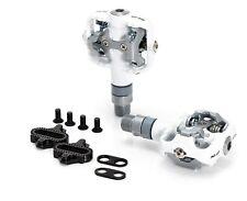 XLC MTB system-pedal pd-s12 DOS CARAS Shimano Compatible blanco