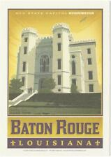 New listing Baton Rouge LA Old State Capitol Travel Poster Style Postcard
