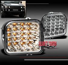 06-10 HUMMER H3/09+ H3T PICKUP LED FRONT CORNER LIGHT LAMP CHROME SIGNAL PARKING