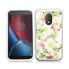 For Motorola Moto G4 Play Brushed Metal HYBRID Rubber Case Cover Accessory