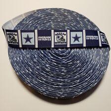 "7/8"" Dallas Cowboys Block Grosgrain Ribbon by the Yard (Usa Seller!)"