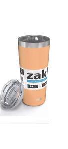 Zak Designs 20oz Double Wall Stainless Steel Coffee Tumbler ORANGE NEW