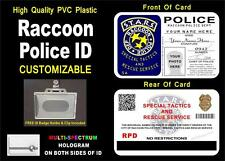 RESIDENT EVIL S.T.A.R.S RACCOON POLICE DEPT ID Badge / Card ~ CUSTOMIZABLE ~ PVC