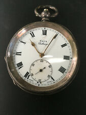"""ANTIQUE SWISS STERLING SILVER KAY'S """"CHALLENGE"""" POCKET WATCH"""