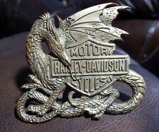 Vintage officially lic. '83 Rare Harley Davidson Winged Dragon Belt Buckle H520
